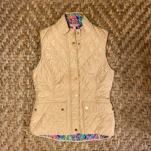 Lilly Pulitzer quilted Vest, Large